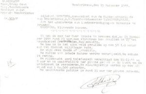 verslag van de Rijkswacht over de inslag van de V1 op de boekhoutberg, op de grens met Hekelgem